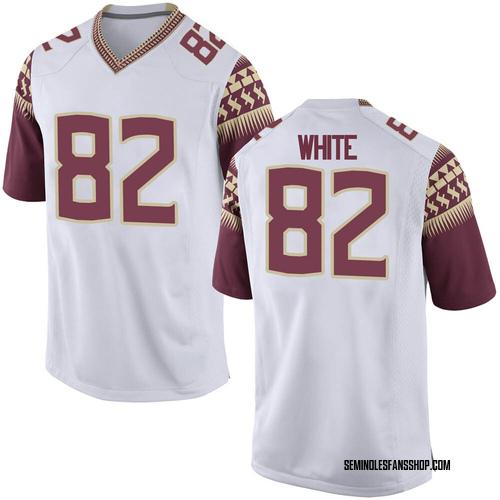 Men's Nike Austin White Florida State Seminoles Replica White Football College Jersey
