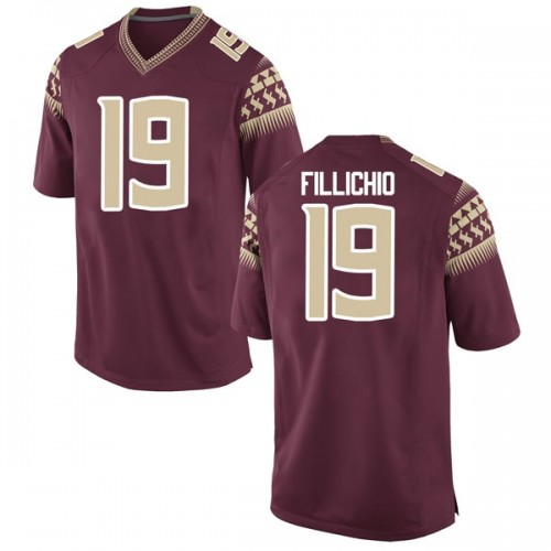 Men's Nike Beau Fillichio Florida State Seminoles Game Garnet Football College Jersey
