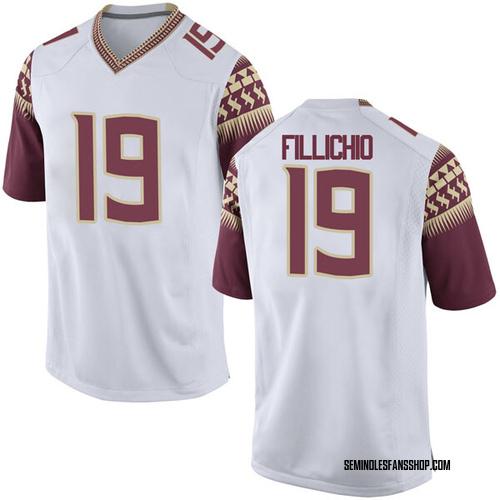 Men's Nike Beau Fillichio Florida State Seminoles Game White Football College Jersey