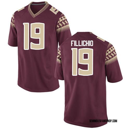 Men's Nike Beau Fillichio Florida State Seminoles Replica Garnet Football College Jersey