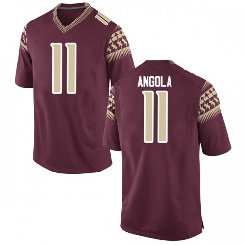 Men's Nike Braian Angola Florida State Seminoles Game Garnet Football College Jersey