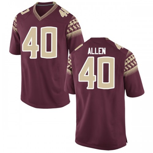 Men's Nike Brandon Allen Florida State Seminoles Replica Garnet Football College Jersey