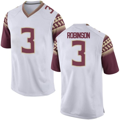 Men's Nike Bryan Robinson Florida State Seminoles Replica White Custom Football College Jersey