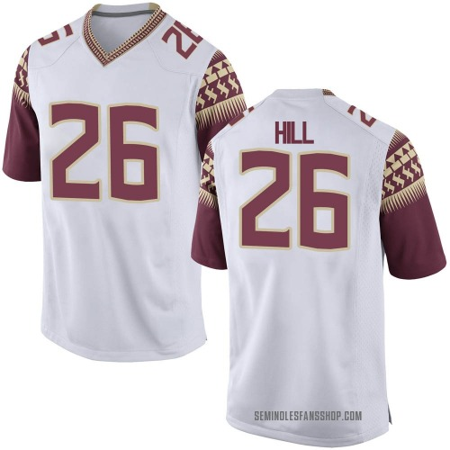 Men's Nike Bryson Hill Florida State Seminoles Game White Football College Jersey