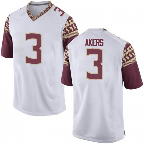 Men's Nike Cam Akers Florida State Seminoles Replica White Football College Jersey