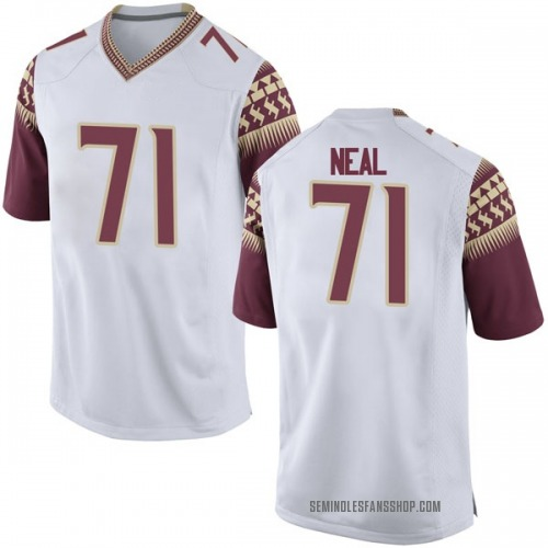 Men's Nike Chaz Neal Florida State Seminoles Game White Football College Jersey
