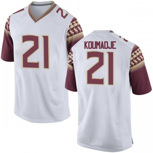 Men's Nike Christ Koumadje Florida State Seminoles Replica White Football College Jersey