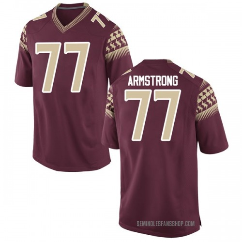 Men's Nike Christian Armstrong Florida State Seminoles Game Garnet Football College Jersey