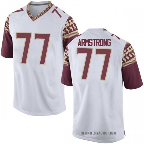Men's Nike Christian Armstrong Florida State Seminoles Game White Football College Jersey