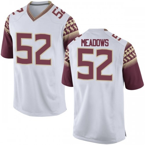 Men's Nike Christian Meadows Florida State Seminoles Replica White Football College Jersey