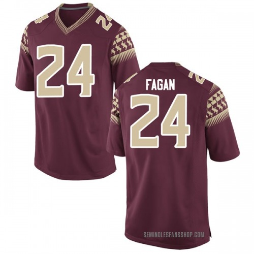 Men's Nike Cyrus Fagan Florida State Seminoles Game Garnet Football College Jersey