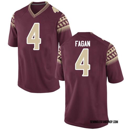 Men's Nike Cyrus Fagan Florida State Seminoles Game Garnet Football College Jersey
