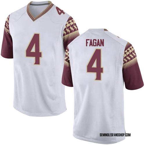 Men's Nike Cyrus Fagan Florida State Seminoles Game White Football College Jersey