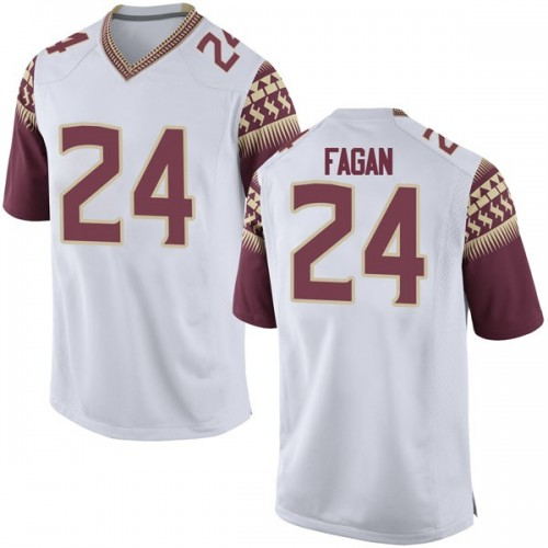 Men's Nike Cyrus Fagan Florida State Seminoles Replica White Football College Jersey