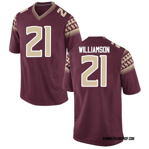 Men's Nike Darion Williamson Florida State Seminoles Replica Garnet Football College Jersey