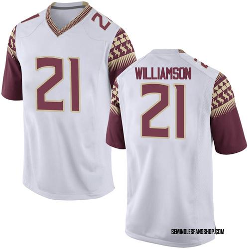 Men's Nike Darion Williamson Florida State Seminoles Replica White Football College Jersey