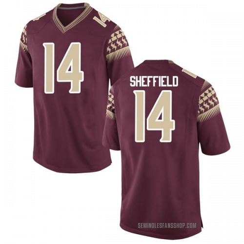 Men's Nike Deonte Sheffield Florida State Seminoles Replica Garnet Football College Jersey
