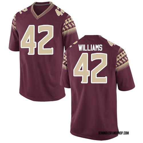 Men's Nike Deonte Williams Florida State Seminoles Replica Garnet Football College Jersey