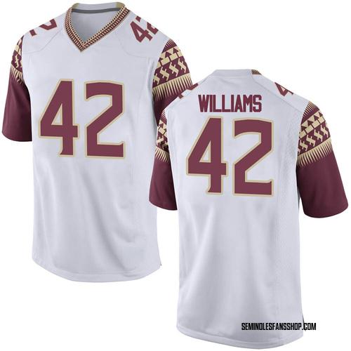 Men's Nike Deonte Williams Florida State Seminoles Replica White Football College Jersey