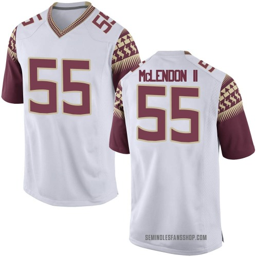 Men's Nike Derrick McLendon II Florida State Seminoles Game White Football College Jersey