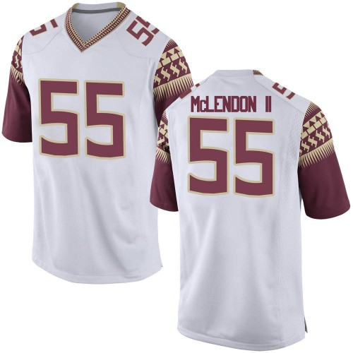 Men's Nike Derrick McLendon II Florida State Seminoles Replica White Football College Jersey