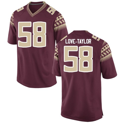 Men's Nike Devontay Taylor Florida State Seminoles Game Garnet Football College Jersey