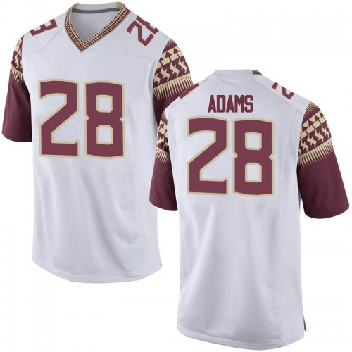 Men's Nike Dmarcus Adams Florida State Seminoles Replica White Football College Jersey