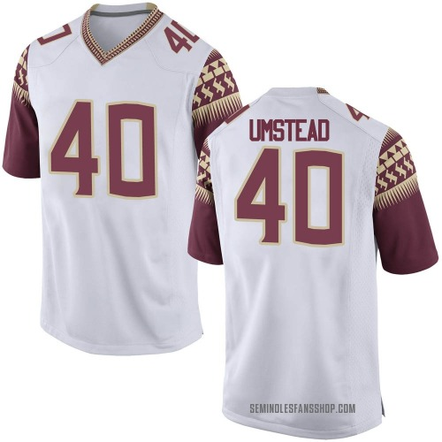 Men's Nike Ethan Umstead Florida State Seminoles Game White Football College Jersey