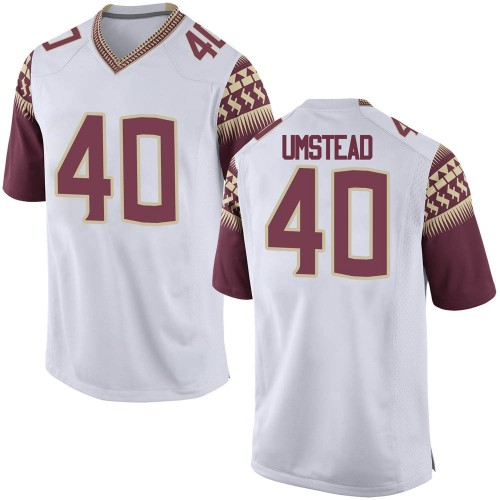 Men's Nike Ethan Umstead Florida State Seminoles Replica White Football College Jersey