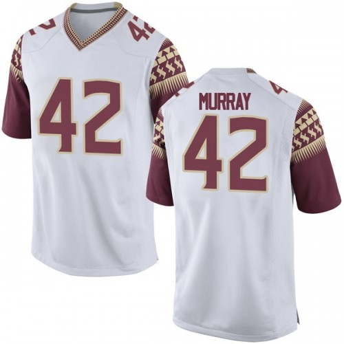 Men's Nike Garrett Murray Florida State Seminoles Game White Football College Jersey