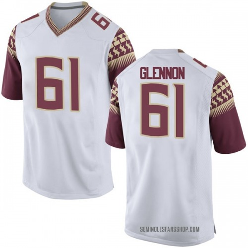 Men's Nike Grant Glennon Florida State Seminoles Replica White Football College Jersey