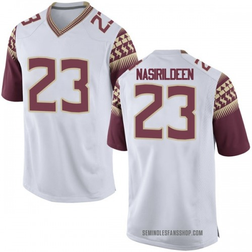 Men's Nike Hamsah Nasirildeen Florida State Seminoles Game White Football College Jersey
