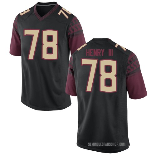 Men's Nike Ira Henry III Florida State Seminoles Replica Black Football College Jersey
