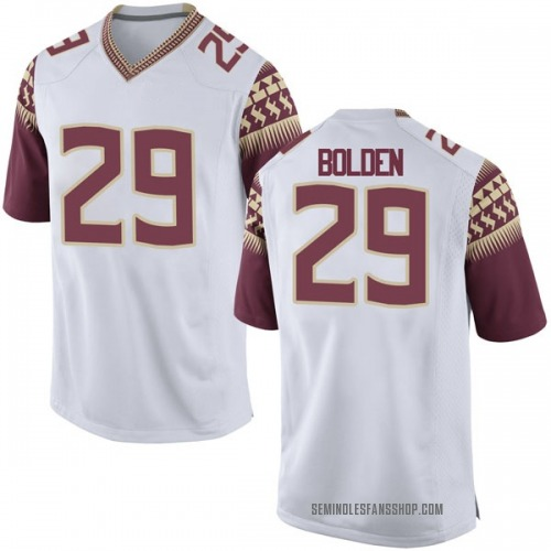 Men's Nike Isaiah Bolden Florida State Seminoles Game White Football College Jersey