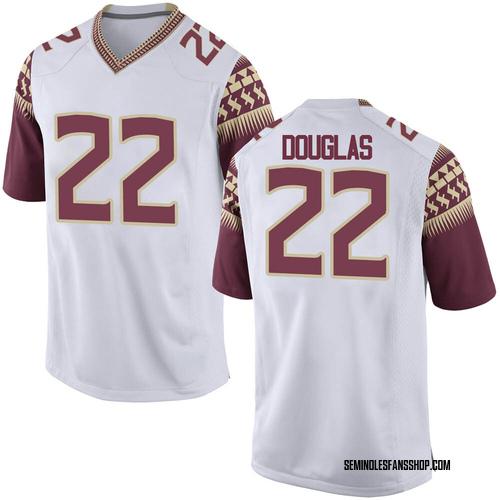 Men's Nike Ja'Khi Douglas Florida State Seminoles Game White Football College Jersey