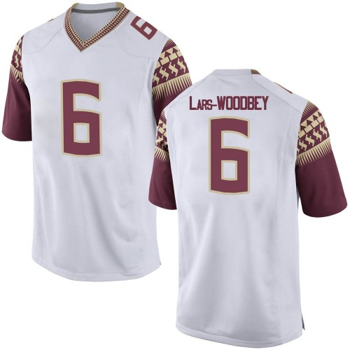 Men's Nike Jaiden Woodbey Florida State Seminoles Game White Football College Jersey