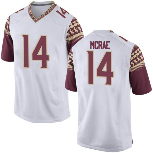Men's Nike Jaleel McRae Florida State Seminoles Game White Football College Jersey