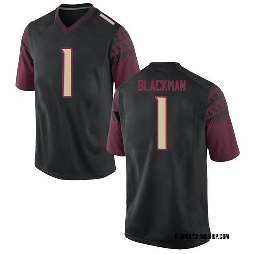 Men's Nike James Blackman Florida State Seminoles Game Black Football College Jersey