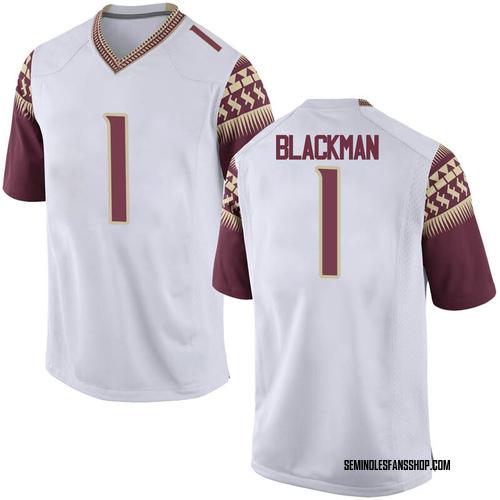 Men's Nike James Blackman Florida State Seminoles Game White Football College Jersey