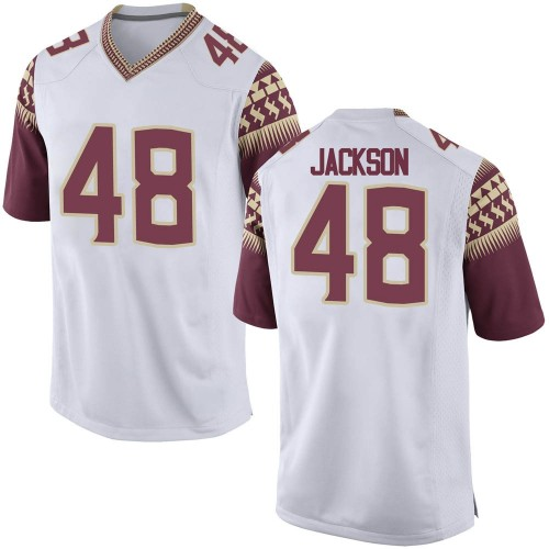 Men's Nike Jarrett Jackson Florida State Seminoles Game White Custom Football College Jersey