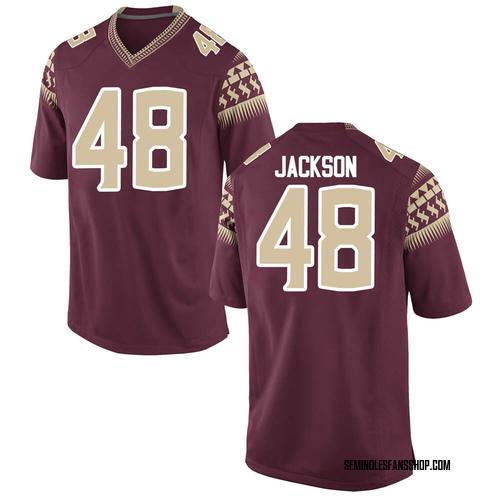 Men's Nike Jarrett Jackson Florida State Seminoles Replica Custom Garnet Football College Jersey