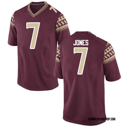Men's Nike Jarrian Jones Florida State Seminoles Game Custom Garnet Football College Jersey