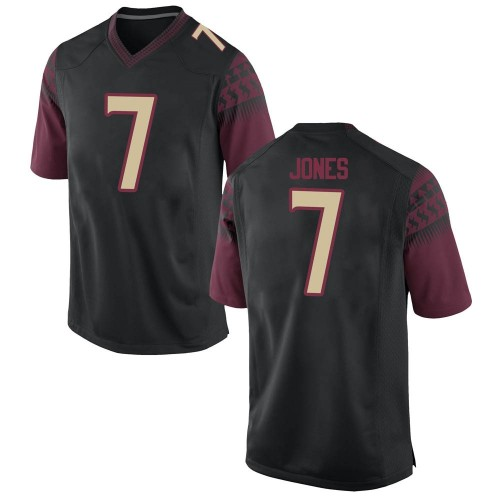 Men's Nike Jarrian Jones Florida State Seminoles Replica Black Football College Jersey