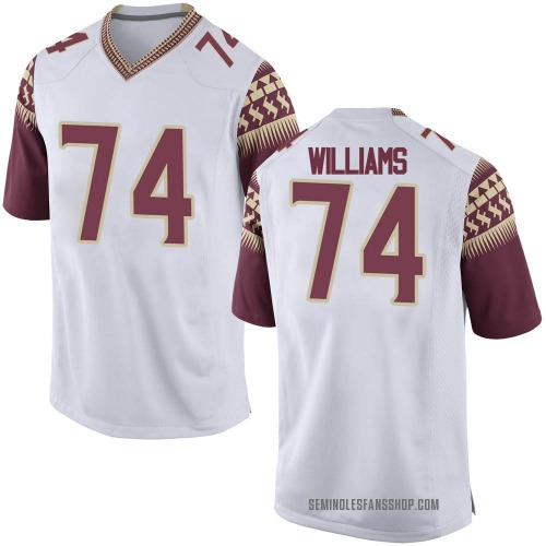 Men's Nike Jay Williams Florida State Seminoles Game White Football College Jersey
