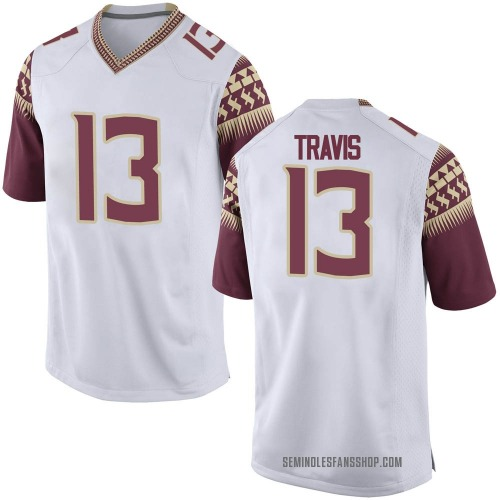 Men's Nike Jordan Travis Florida State Seminoles Game White Football College Jersey