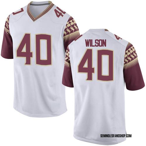 Men's Nike Jordan Wilson Florida State Seminoles Replica White Football College Jersey