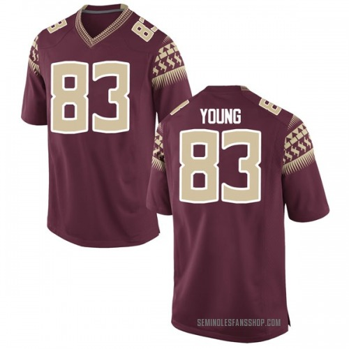 Men's Nike Jordan Young Florida State Seminoles Replica Garnet Football College Jersey