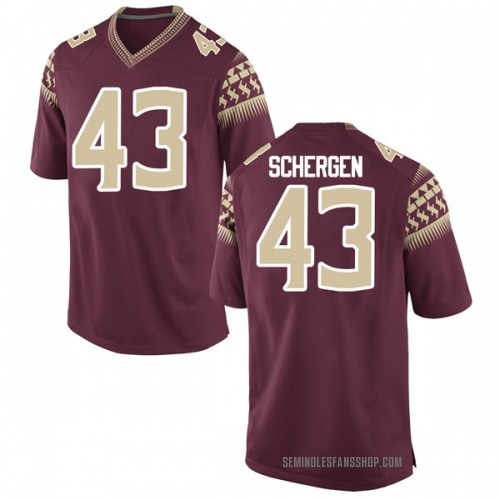 Men's Nike Joseph Schergen Florida State Seminoles Game Garnet Football College Jersey