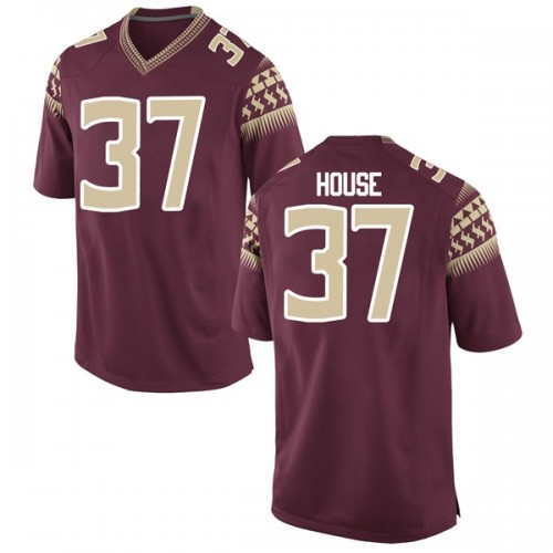 Men's Nike Kameron House Florida State Seminoles Game Garnet Football College Jersey