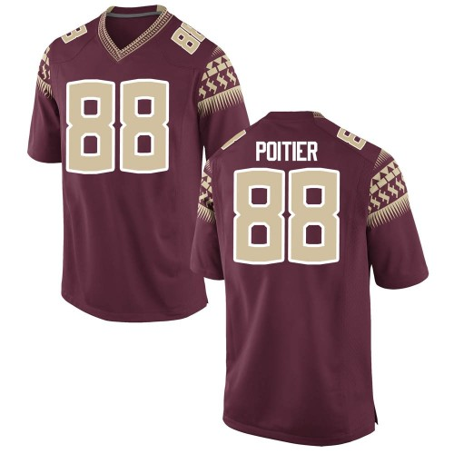 Men's Nike Kentron Poitier Florida State Seminoles Game Custom Garnet Football College Jersey